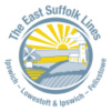 East Suffolk Lines logo of a yellow sun coming up over rolling countryside