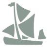 Sailors' Path stylised sailing barge logo